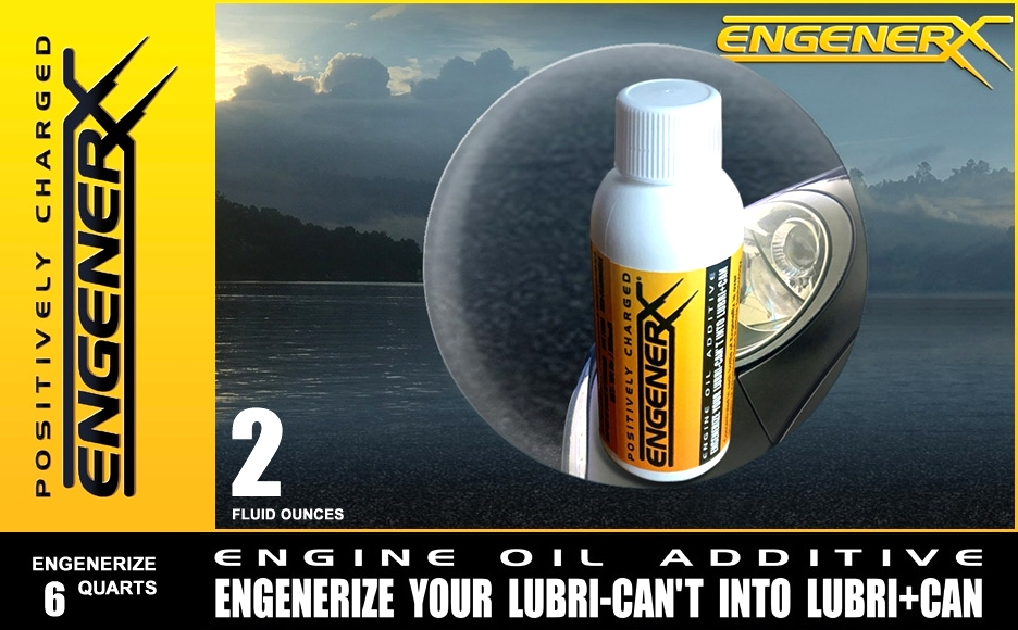 High Performance EngeneRx | 2 fl oz Engenerizes up to six quarts of mineral or synthetic motor oil.  Engine Oil Treatment